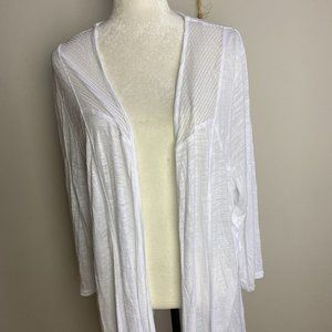 Cable & gauge Cardigan white New Plus 2X sheer